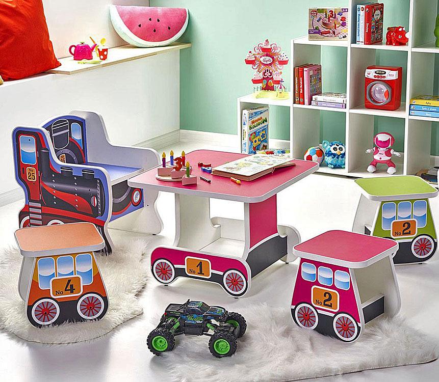 Zestaw mebli do pokoju dziecka - pociąg i wagoniki Milo