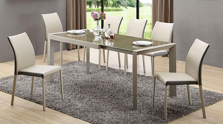 Szklany stół rozkładany Arafis