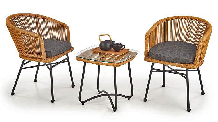 Komplet krzeseł ogrodowych do salonu Valeria