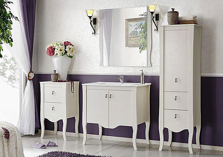Komplet białych mebli łazienkowych Kimberley