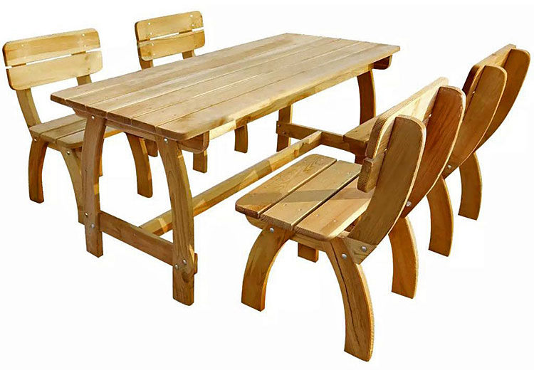 Zestaw drewnianych mebli ogrodowych Darco 3 X - brązowy