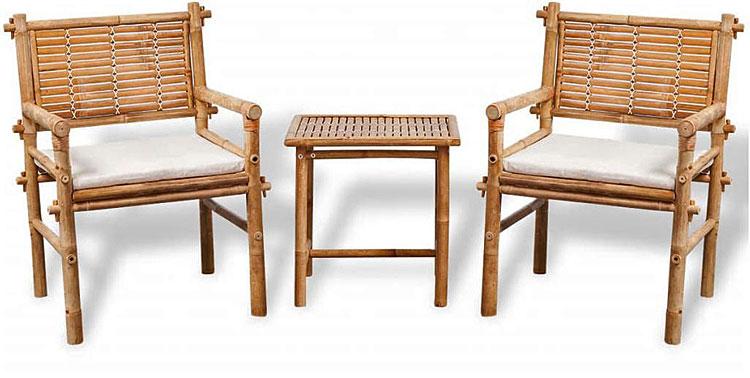 Zestaw drewnianych mebli ogrodowych - Della