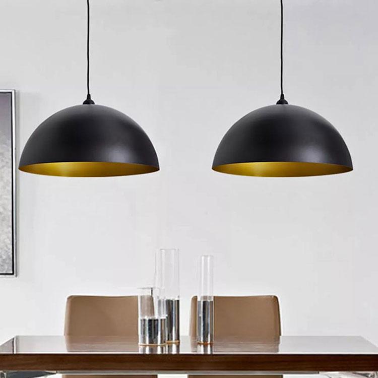 Czarne lampy wiszące z regulacją - Noris