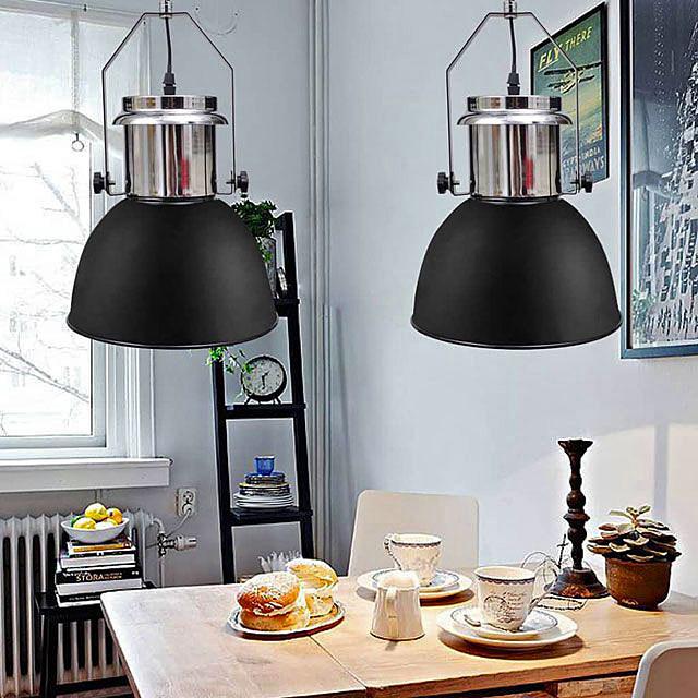 Czarne regulowane lampy wiszące loft - Berlog