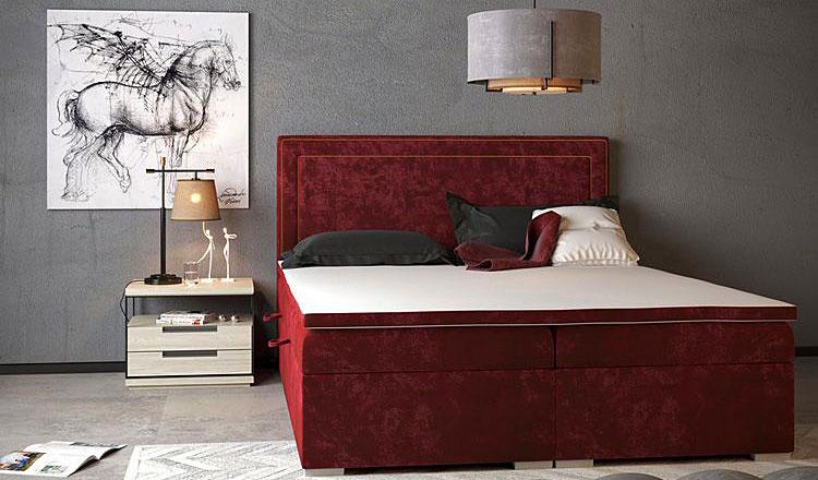Podwójne łóżko boxspring Soho.