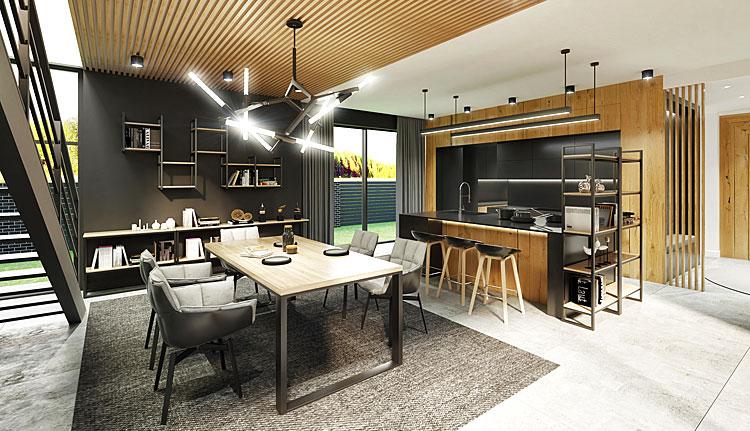 wnętrze mieszkalne urządzone w stylu industrialnym