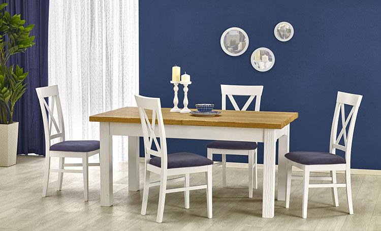 rozkładany stół kuchenny idealny do pomieszczeń urządzonych w stylu prowansalskim