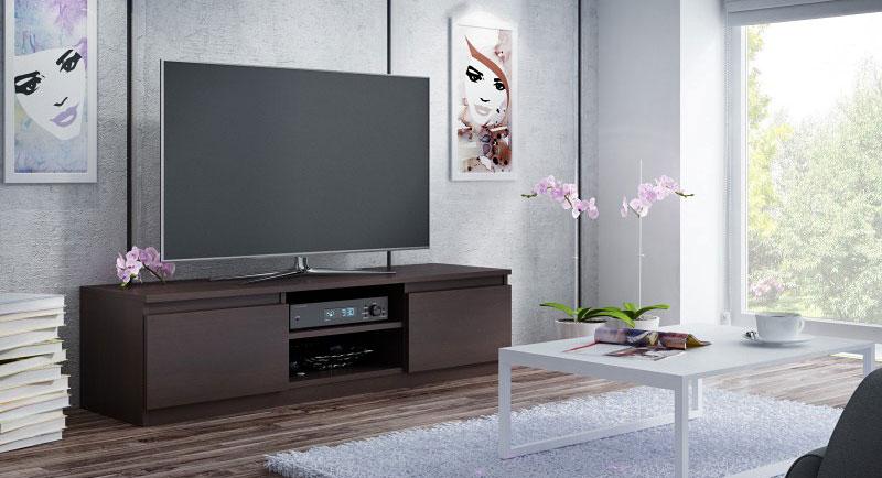 szafka pod telewizor w kolorze wenge