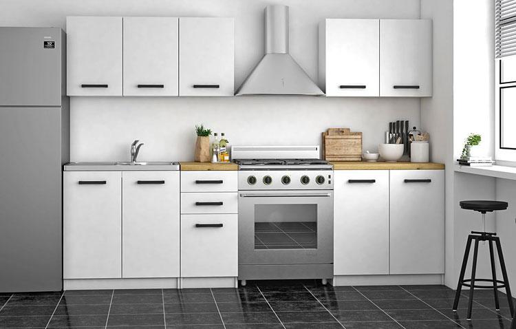 białe meble kuchenne komplet szafek