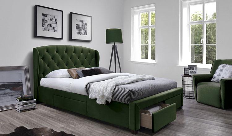 podwójne wielofunkcyjne łóżko do sypialni z szufladami